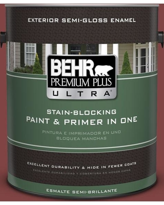 BEHR ULTRA 1 gal. #ECC-59-3 New Roof Semi-Gloss Enamel Exterior Paint and Primer in One