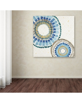 """Trademark Fine Art 18 in. x 18 in. """"Indigold Xvi"""" by Lisa Audit Printed Canvas Wall Art, Multi"""