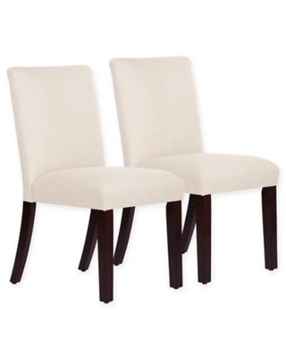 Skyline Furniture Monteagle Dining Chair in Linen Talc