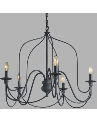 Antique Gray Rustic Wire 5 Light Chandelier - Metal by World Market
