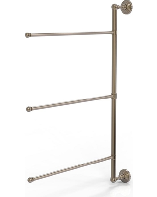 Allied Brass Waverly Place Collection 3 Swing Arm Vertical 28 in. Towel Bar in Antique Pewter