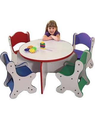 Playscapes Friends Kids 5 Piece Table and Chair Set 25-RST Color: Speckletone