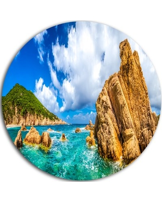 """'Costa Paradiso Close View' Photographic Print on Metal Design Art Size: 23"""" H x 23"""" W x 1"""" D"""