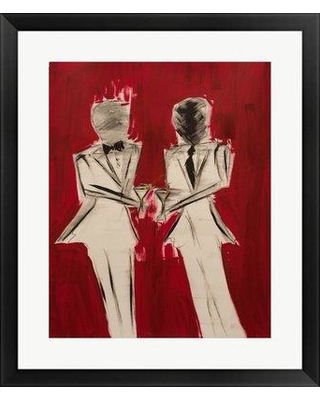 """Ebern Designs 'I Toast You No I Toast You' Framed Poster in Red EBND1505 Size: 22.5"""" H x 18.5"""" W x 1"""" D"""