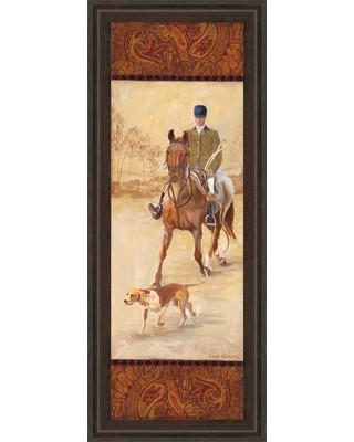 Classy Art Wholesalers On the Hunt II by Linda Wacaster Framed Painting Print 1222