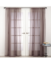 Curtain Panels Saro Lifestyle Brown Solid