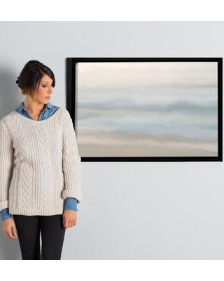 """Rosecliff Heights 'Sand Sea and Sky' Framed Painting Print on Gallery Wrapped Canvas ROHE4991 Size: 24"""" H x 36"""" W x 2"""" D"""
