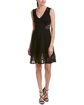 French Connection Women's Tatlin Beau Jersey V-Neck Dress, Black, 0