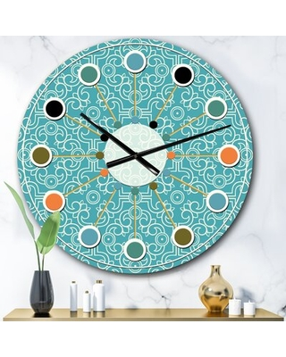 Oversized Abstract I Mid-Century Wall Clock East Urban Home Size: Large