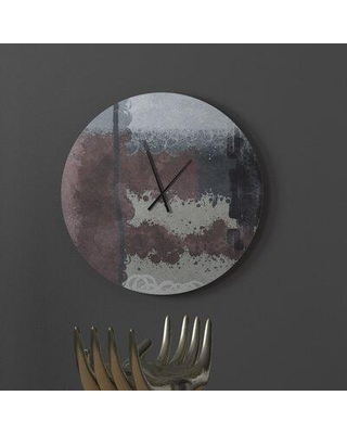 Amazing Deal On Latitude Run Equitable Heart To Heart Abstract Metal Wall Clock X112798449 Size Large
