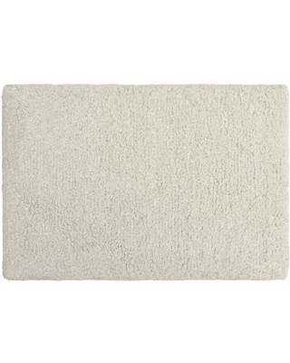 Laura Ashley Rachel Lurex 17 in. x 24 in. Bath Rug, Light Grey