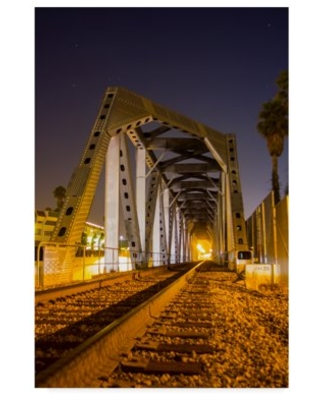 Trademark Fine Art 'Waiting For The Night Train' Canvas Art by Chris Moyer