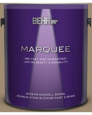 BEHR MARQUEE 1 gal. #PMD-102 River Mud Eggshell Enamel Interior Paint and Primer in One