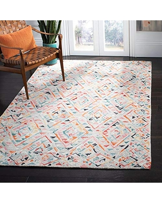 Great Deal On Safavieh Micro Loop Collection Mlp352f Handmade Bohemian Wool Area Rug 5 Square Grey Pink