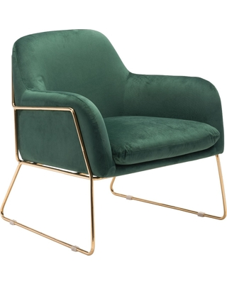 Luxe Velvet Arm Chair Green - ZM Home