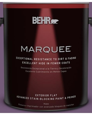 BEHR MARQUEE 1 gal. #670D-7 Gala Ball Flat Exterior Paint and Primer in One