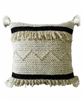 """Chicos Home Accent Throw Pillow 20"""" x 20"""" for Couch Handloom Woven - Off White"""