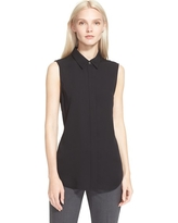 Women's Theory 'Tanelis' Georgette Top, Size Small - Black