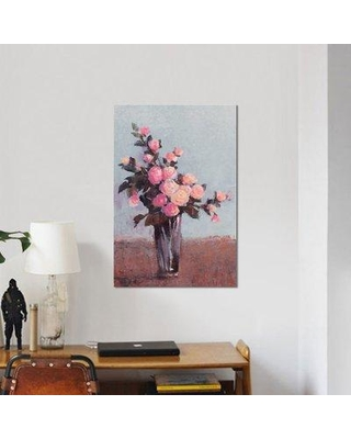 """East Urban Home 'Soft Lit Roses II' Painting Print on Wrapped Canvas ESRB9387 Size: 18"""" H x 12"""" W x 0.75"""" D"""