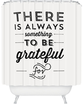 Shower Curtain - Allyson Johnson Something To Be Grateful For - Deny Designs, Black