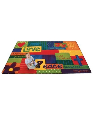 KIDS Value PLUS™ Tufted Yellow Area Rug Carpets for Kids Rug Size: Rectangle 8' x 12'
