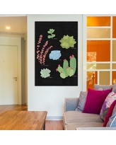 """Bungalow Rose Succulent Plant Chart IV Painting Print on Wrapped Canvas BNGL6171 Size: 12"""" H x 8"""" W x 0.75"""" D"""