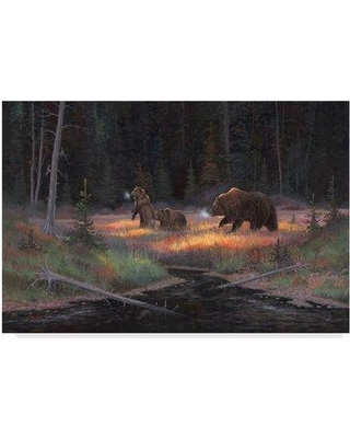 "Trademark Fine Art 'Cub Scouts' Oil Painting Print on Wrapped Canvas ALI37836-CGG Size: 12"" H x 19"" W x 2"" D"