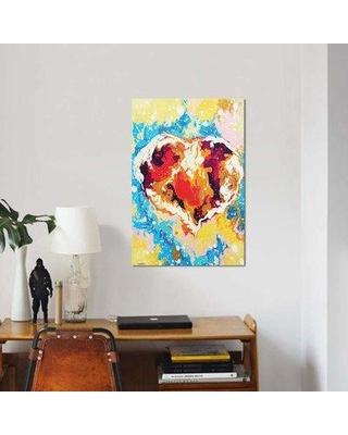 "East Urban Home 'Forever Heart' Print on Canvas EBHT2158 Size: 18"" H x 12"" W x 0.75"" D"