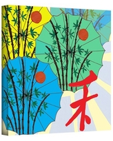 """'Parasol Parade' by Jan Weiss Graphic Art on Wrapped Canvas ArtWall Size: 10"""" H 10"""" W"""