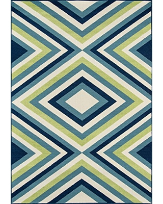 """Momeni Rugs , Baja Collection Contemporary Indoor & Outdoor Area Rug, Easy to Clean, UV protected & Fade Resistant, 3'11"""" x 5'7"""", Multicolor"""