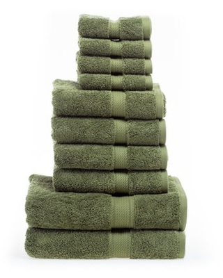 Impressions Hymnia Egyptian Cotton Solid 10-Piece Towel Set