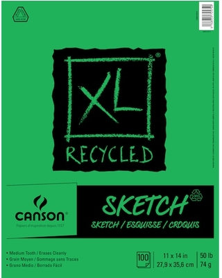"Canson® Xl® Recycled Sketch Pad in White | 11"" x 14"" 