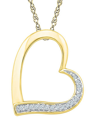 Womens 18 Inch Diamond Accent White Diamond 10K Gold Link Necklace, One Size