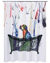 Check Out Deals On Columban Tub Dog Single Shower Curtain Red Barrel Studio