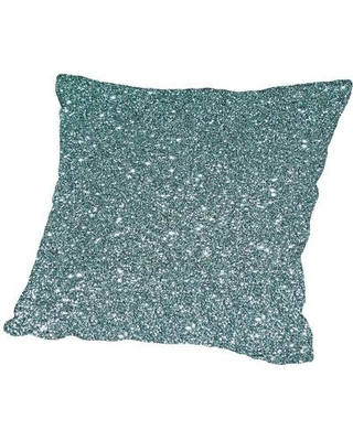 "East Urban Home Sparkly Throw Pillow, Cotton/Polyester/Polyfill in Green, Size 18"" H x 18"" W x 2"" D 