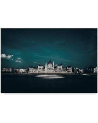 "Trademark Art 'The Parliament' Photographic Print on Wrapped Canvas 1X07073-C Size: 30"" H x 47"" W x 2"" D"