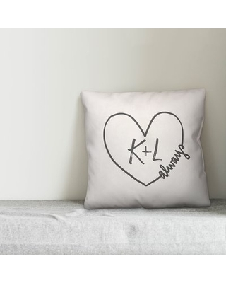 Menzel Initials Personalized Outdoor Throw Pillow Wrought Studio™ Customize: Yes