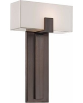 """George Kovacs Mitered Glass 10"""" Copper Bronze Wall Sconce"""