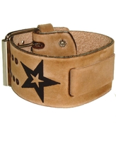 Nemesis Italian Faded Star Brown Leather Wide-cuff Watch Band (Leather)