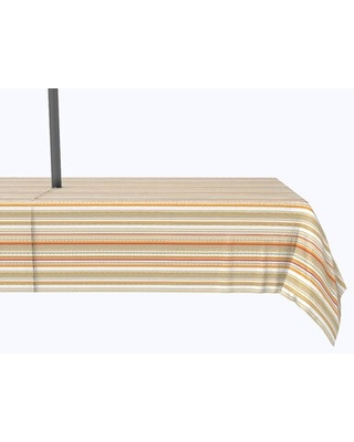 """Beal Striped Tablecloth Rosecliff Heights Size: 104"""" x 60"""""""
