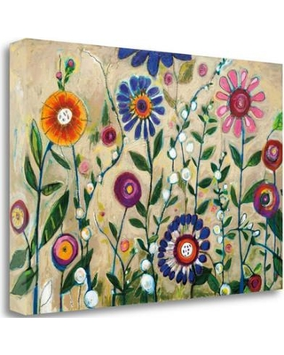 """Tangletown Fine Art 'Garden Party' Graphic Art Print on Wrapped Canvas CA316284-2416c Size: 16"""" H x 24"""" W"""