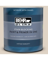 Sweet Savings On Behr Ultra 1 Qt Pwn 42 Parisian Taupe Extra Durable Flat Interior Paint And Primer In One