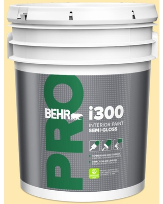 Find Savings On Behr Pro 5 Gal 330a 3 Lively Yellow Semi Gloss Interior Paint