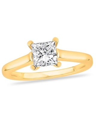 Jared Diamond Solitaire Engagement Ring 1 ct tw Princess-cut 14K Yellow Gold