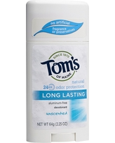 Tom's of Maine Long Lasting Unscented Natural Deodorant Stick - 2.25oz