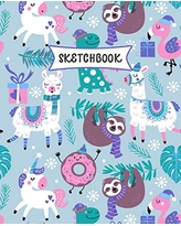 Sketchbook: Sloth, Unicorn and Llama Sketch Book for Kids   Practice Drawing and Doodling   Fun Sketching Book for Toddlers & Tweens
