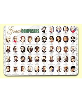 """Painless Learning Placemats Great Composers 17.5"""" Placemat (Set of 4) COM-1"""