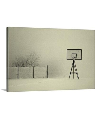 """East Urban Home Winter Playground by Jure Kravanja Photographic Print on Canvas, Canvas & Fabric in White/Black, Size 16"""" H x 24"""" W   Wayfair"""