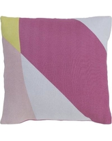 "Surya Teori Modern Cotton Throw Pillow TO028- Fill Material: Poly Fill Size: 22"" x 22"""