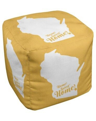 East Urban Home Home Sweet Milwaukee Cube Ottoman EBJC3335 Upholstery Color: Yellow